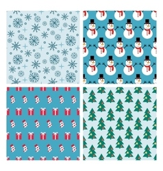 winter ornament seamless pattern vector image vector image