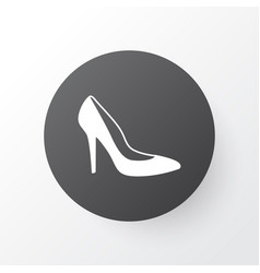 woman shoe icon symbol premium quality isolated vector image