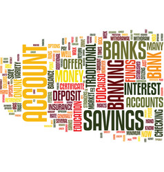 you can bank on it text background word cloud vector image