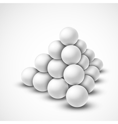 Pyramid from balls vector