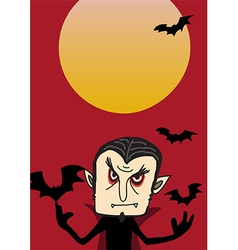 Dracula poster for halloween party vector