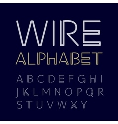 linear uppercase alphabet vector image