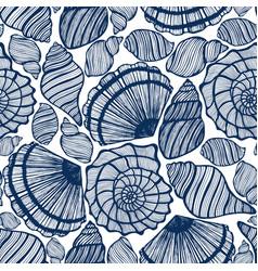 background with seashells vector image