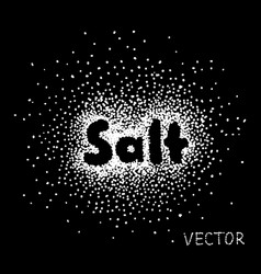 52 salt sprinkled with the word salt vector