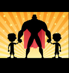 super dad twin boys vector image