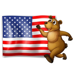 Flag and bear vector