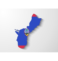 Guam country map with shadow effect presentation vector