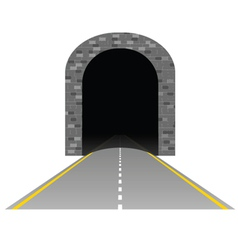 Tunnel with road two vector