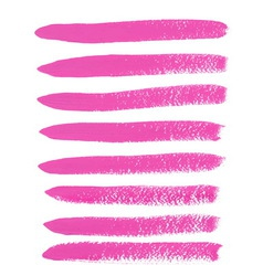 Pink ink brush strokes vector image