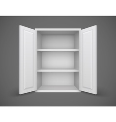 Empty box with open doors and vector