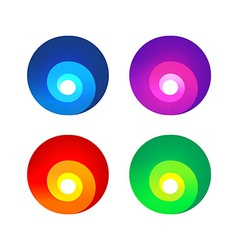 Colorful abstract spiral signs vector