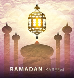 Ramadan kareem greeting background eps 10 vector