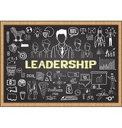 Leadership on chalkboard vector image