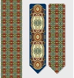 Floral decorative ethnic paisley bookmark for vector