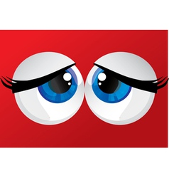 Bulging eyes vector