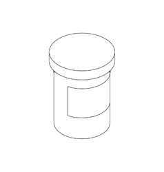 Medicine pill bottle icon isometric 3d style vector