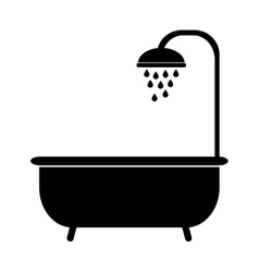 Bathtub with bubbles vector