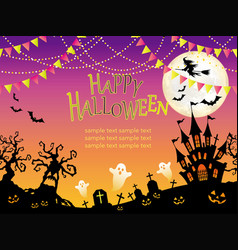 a seamless halloween vector image vector image