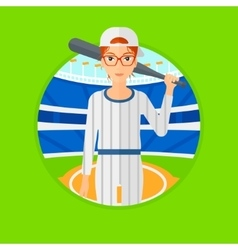 Baseball player with bat vector