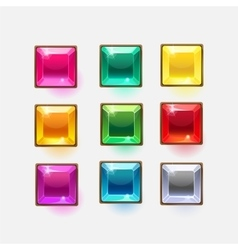 Beautiful glossy crystal square shapes for web or vector