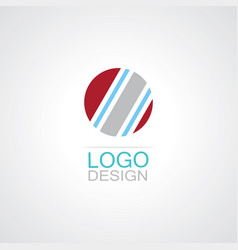 circle shape logo vector image