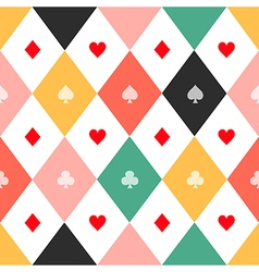 Colorful card suits chess board diamond vector
