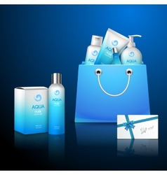 Cosmetics And Bag vector image vector image