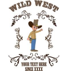 Cowboy cartoon vector