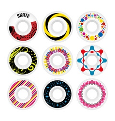 Design skate wheels vector