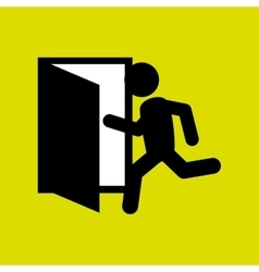 emergency exit design vector image