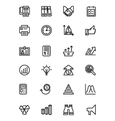 Finance Line Icons 4 vector image vector image