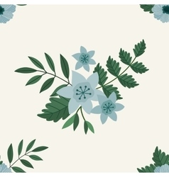 Flower frame background vector image
