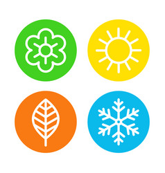 four seasons logo set vector image