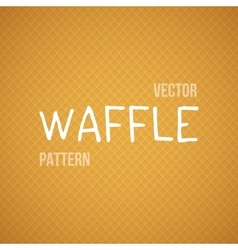 Fresh baked orange waffle seamless vector