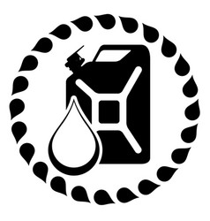gasoline logo design template jerry can of vector image vector image