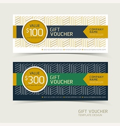 Gift voucher design template vector image vector image