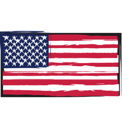 grunge united states flag or banner vector image