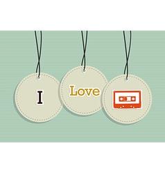 Hanging vintage music badges vector image vector image