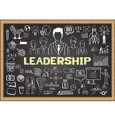 Leadership on chalkboard vector image