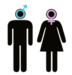 Male and female signs in pictogram vector