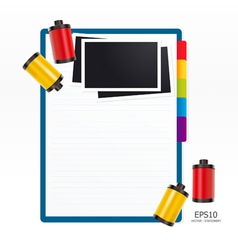 note paper with film vector image