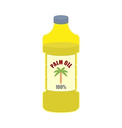 Palm oil bottle plastic bottle for food vector
