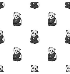 pandaanimals single icon in monochrome style vector image vector image