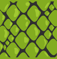 Pattern of green snake skin vector