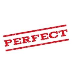 Perfect Watermark Stamp vector image