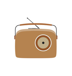 radio vintage retro old music speaker sound vector image vector image