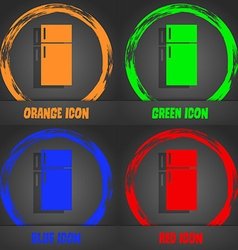 Refrigerator icon sign Fashionable modern style In vector image