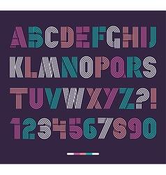 Retro stripes funky fonts settrendy elegant retro vector