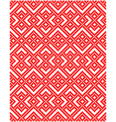 russian embroidery ornament vector image