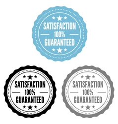 Satisfaction guaranteed stamps set vector
